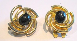 Vintage 1980's PAOLO GUCCI Elegant Clip Classic Earrings - $24.70