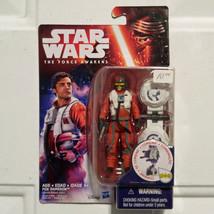 Star Wars Poe Dameron Action Figure The Force Awakens 3.75 Inch Hasbro N... - $12.86
