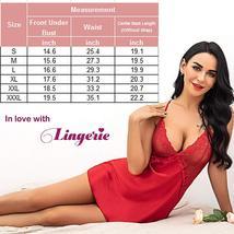 Womens Lingerie V Neck Nightwear Satin Baby Doll Lingerie Set image 6