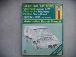 GM Haynes Repair Manual. Chevy Lumina APV, Olds Silhouette, Pontiac Tran... - $9.41