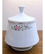 Bird of Paradise by Crown Ming Sugar Bowl Pink & Blue Flowers Excellent ... - $14.84