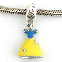 Authentic Pandora Disney Snow White's Dress Dangle Charm, 791579ENMX New - $55.84
