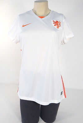 bc54b600aa4 1. 1. Previous. Nike Dri Fit White The Netherlands National Football Team  Jersey Womans NWT. Nike ...