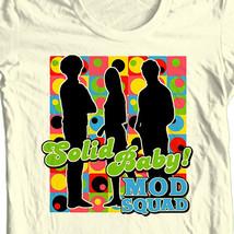 Mod Squad T shirt retro 70's TV Land show 100% cotton beige tee CBS225 image 1