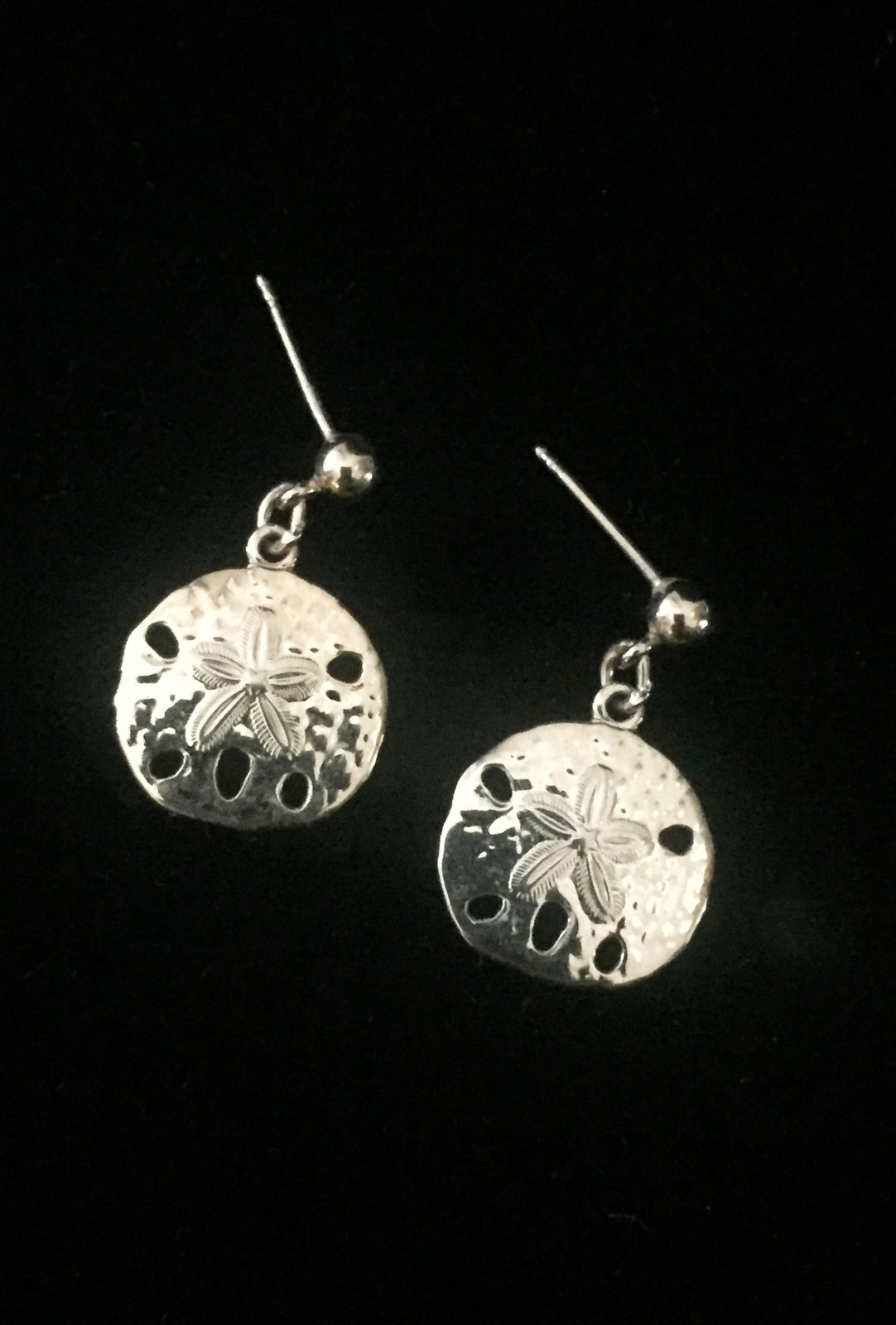 Primary image for Vintage Golden Sand Dollar post earrings