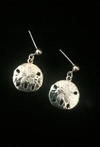 Vintage Golden Sand Dollar post earrings image 1