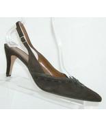 Bandolino 'Voodoo' brown suede snake pointed toe buckle slingback heels 8M - $33.30