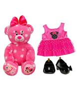 Build a Bear Disney Minnie Mouse Polka Dot Pink 16in. Teddy Dress Black ... - $169.95