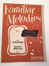 Familar Melodies 1954 Belwin book Baldwin Model 45 Orga-sonic Spinet Org... - $12.99