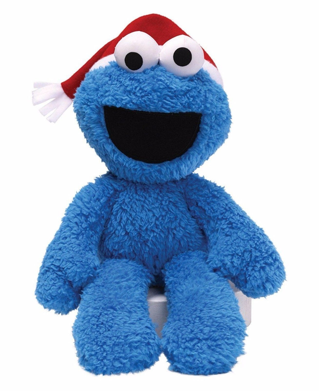 Gund Plush Sesame Street Cookie Monster Take Along Buddy Christmas Hat 12 inch