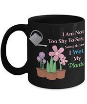PixiDoodle I Wet My Plants - Gardening Plant Lady Coffee Mug (11 oz, Black) - $21.84