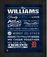 """Detroit Tigers """"Family Cheer"""" 13 x 16 Framed Print - $39.95"""