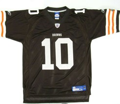 Reebok Cleveland Browns Brady Quinn Jersey Adult Large Brown On Field NF... - $24.70