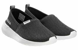 Adidas Damen Schwarz Weiß Cf Lite Racer Cloudfoam Slip auf Sneaker Schuh... - $29.07