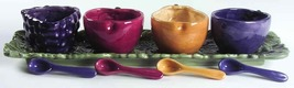 NOBLE EXCELLENCE NAPA VALLEY 9 PIECE CONDIMENT SET WITH TRAY MULTI COLOR... - $64.90