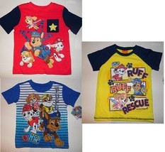 Nickelodeon Paw Patrol Toddler Boys T-Shirts Sizes 2T ,3T,4T, 5T NWT - $13.29