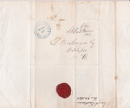1840 RED WAX SEAL of the U.S. HOUSE OF REPRESENTATIVES -  IRA A. EASTMAN... - $74.25