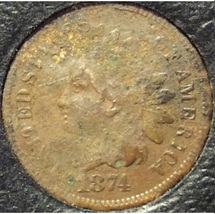1874 Indian Head Cent Fine Details #0946 - $14.99