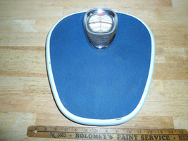 Vintage 1950's German Krups Bathroom Scale Blue Chrome with Bubble Glass... - $69.99