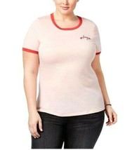 Mighty Fine NWT Tee Shirt 2X Plus Trendy Slay Graphic T-Shirt Pink Red T... - $14.84