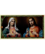 10 Prayer Holy Cards Sacred Heart of Jesus and Immaculate Heart of Mary ... - $9.95
