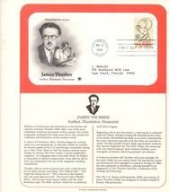 James Thurber, Author, Postal Commemorative Society, 1st Day, 29 cent Stamp - $2.50