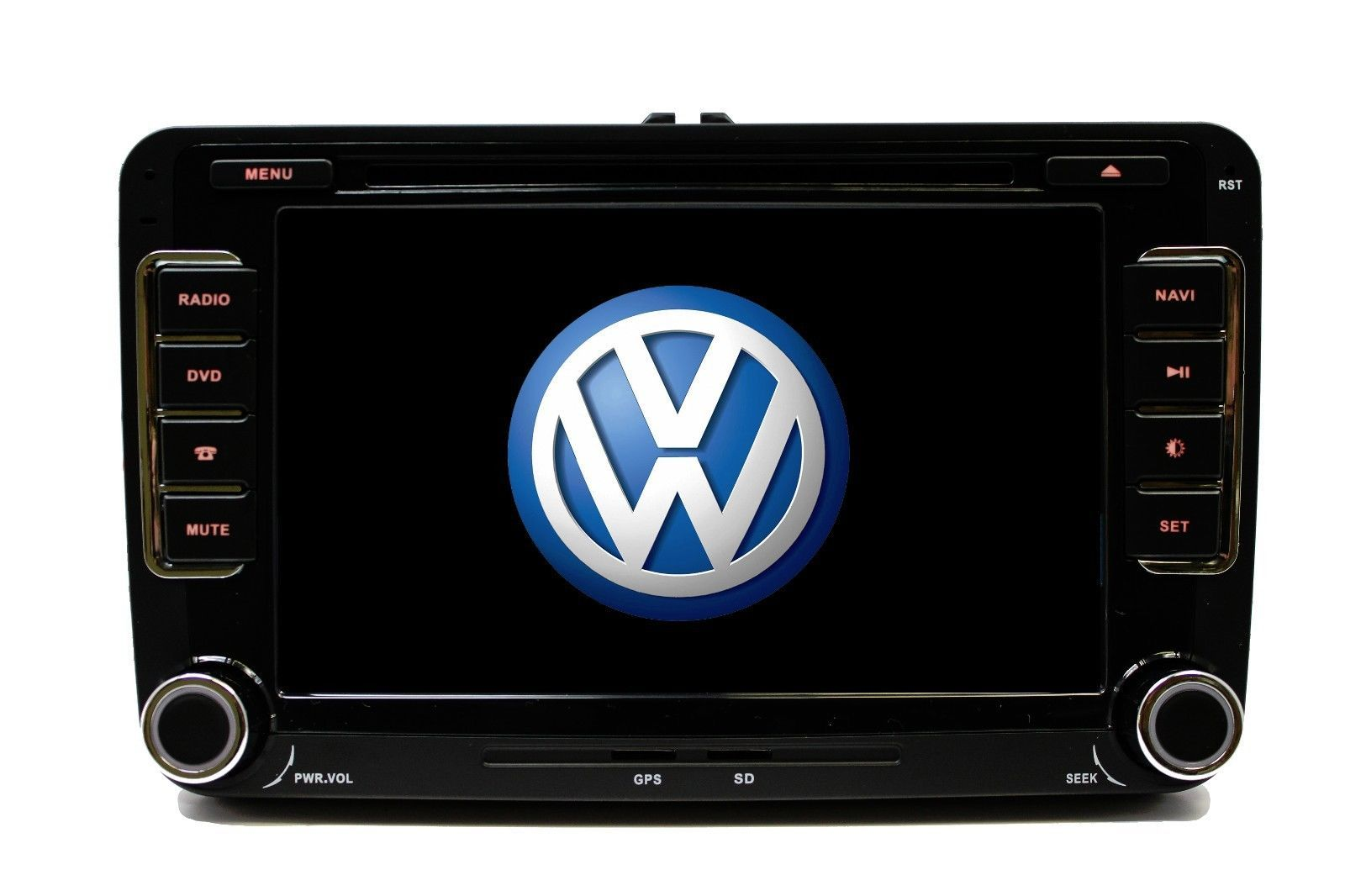 OE FITMENT TOUCH SCREEN DOUBLE DIN MP3 BLUETOOTH IPOD GPS VW TIGUAN 2007-2013