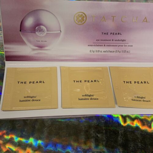 NWT Tatcha The Pearl 3 Sachets ALL IN SAME SHADE Softlight .9g Total