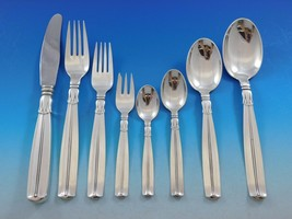 Lotus by Sorensen Danish Sterling silver Flatware Set 8 Service 70 pieces - $8,316.00
