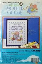Mother Goose Stamped Cross Stitch Marys Little Lamb Sampler Bucilla New - $8.99