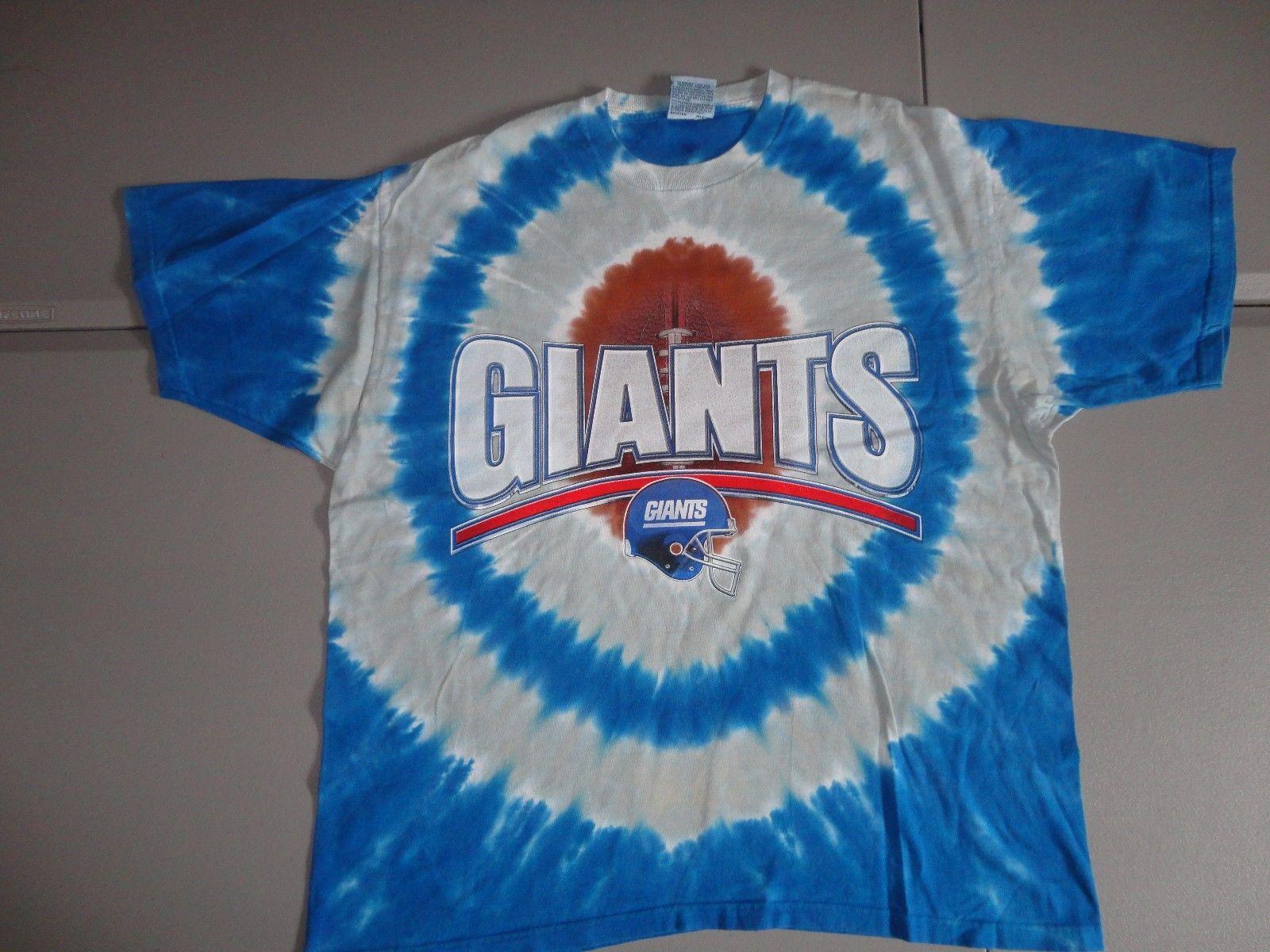 RARE Vintage Liquid Blue New York Giants NFL Tye Tie Dye Die T-Shirt  Adult L