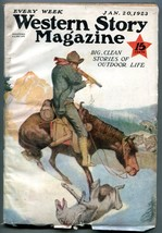 Western Story Magazine Pulp January 20 1923- Range Rider VG - $94.58