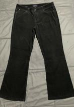 Talbots Womens Signature Boot Black Soft Corduroy Pant Five Pocket Size ... - $21.78