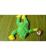 TY Beanie Baby Smoochy Frog with tags and plastic cover - $3.36
