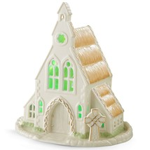 Lenox Irish Country Church Figurine Lighted Saint St Patrick's Day Celti... - $79.20