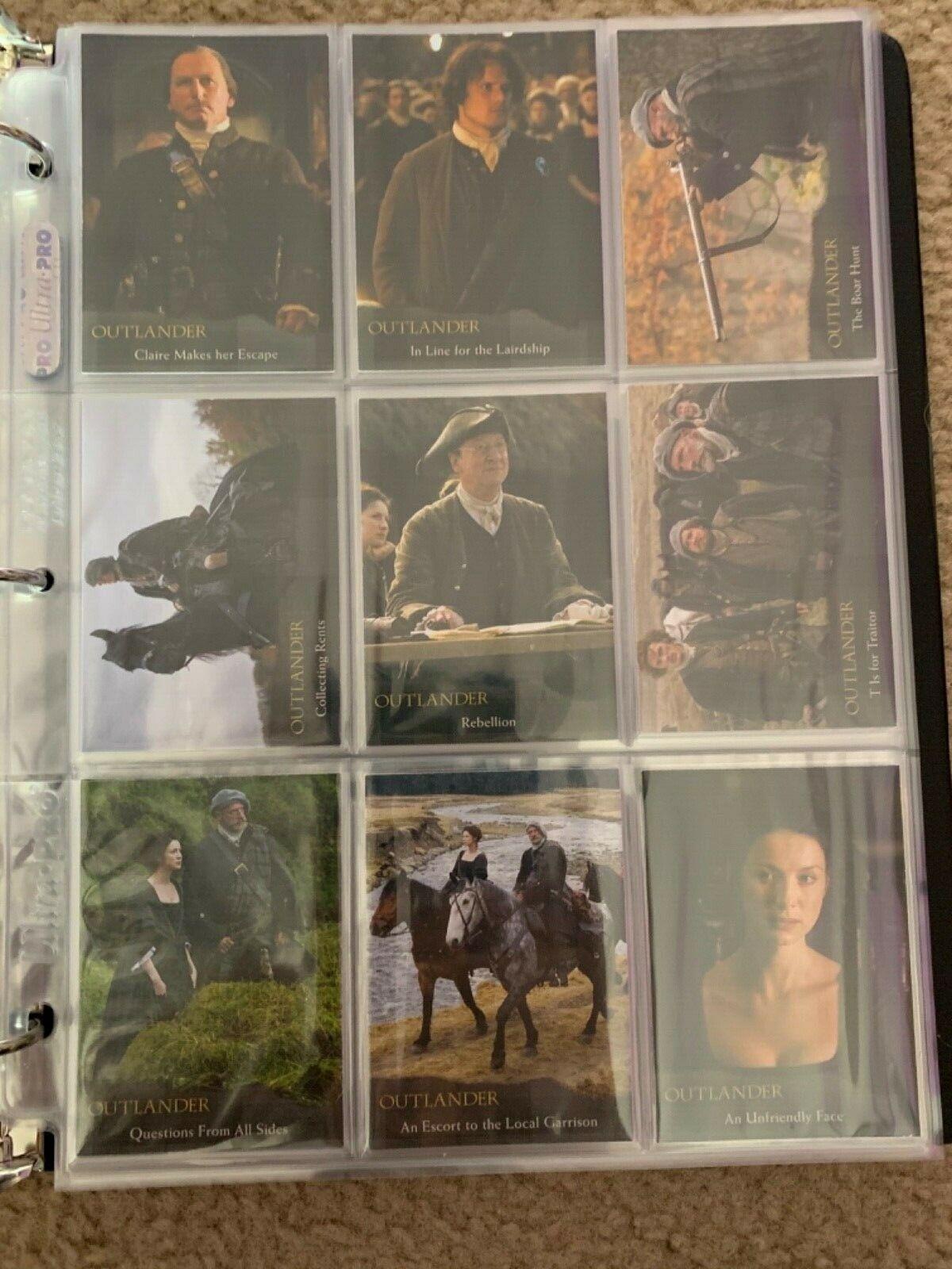 Outlander Season 1 Binder Wardrobe M37 B1 Promo Chase Base image 12