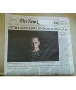 NY Times Newspaper Ruth Bader Ginsburg September 19 2020 orig issue main... - $9.89