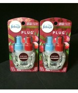 2X Febreze Limited Edition Fresh Twist Cranberry Plug In Scented Oil Ref... - $19.55