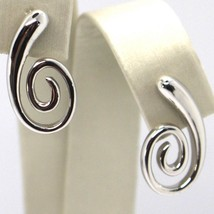 DROP EARRINGS WHITE GOLD 750 18K, DROP, SPIRAL, CURVED image 1
