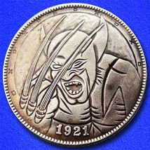 "Wolverine ""Hobo Nickel"" on Morgan Dollar Coin ** - $4.79"