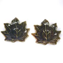 Maple Leaf Votive Tea Light Candle Holders Set of 2 - $14.85