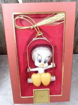 Lenox 2000 Warner Bros. Christmas Ornament Tweety Bird on Swing Looney T... - $24.99