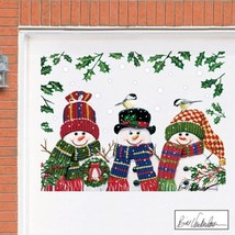 Festive Snowman Trio Garage Door Magnets - $22.68