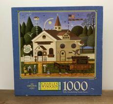 Vtg Sealed Charles Wysocki's Birdseller Puzzle 1000 Piece Mb 2000 Americana - $69.25