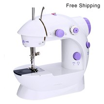 Sewing Machine Automatic Dual Speed Double Thread Handheld EU Electric S... - $27.99