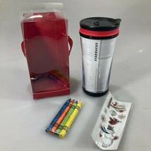 Starbucks Create Your Own Holiday Tumbler 8 oz Crayons Stickers 2010 NEW - $29.89