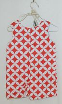 MudPie Monkey Shortall Red White Flower Geometrical Design Size 9 to 12 Months image 5