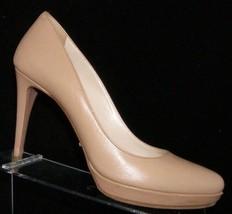 Prada Capretto Basic nude almond toe slio on platform pump heels 8 EU 38 - $214.73