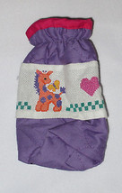 Bottle Cover Hand Stitched Giraffe Butterfly Hearts Purple Pink Baby  - $9.89