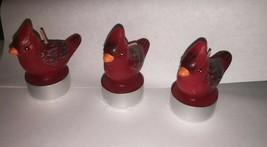 3 Vintage Wax  unused Cardinal  Candles     ws1 - $9.49